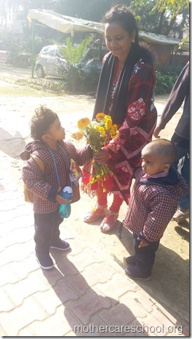 bringing flower to school (3)