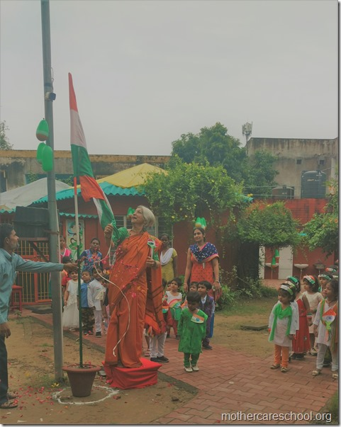 Flag hoisting by Mrs Shobha Dev