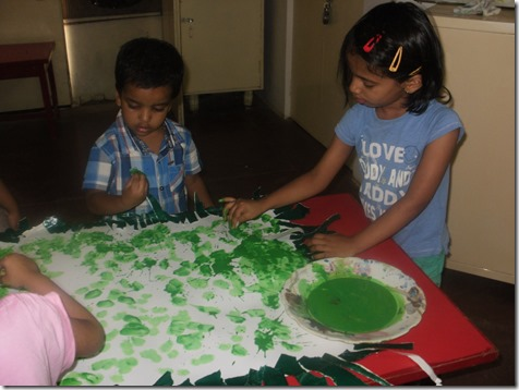 Theme for summer holiday activities was DELHI SAFARI