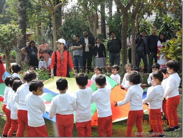 Playgroup A on Sports Day